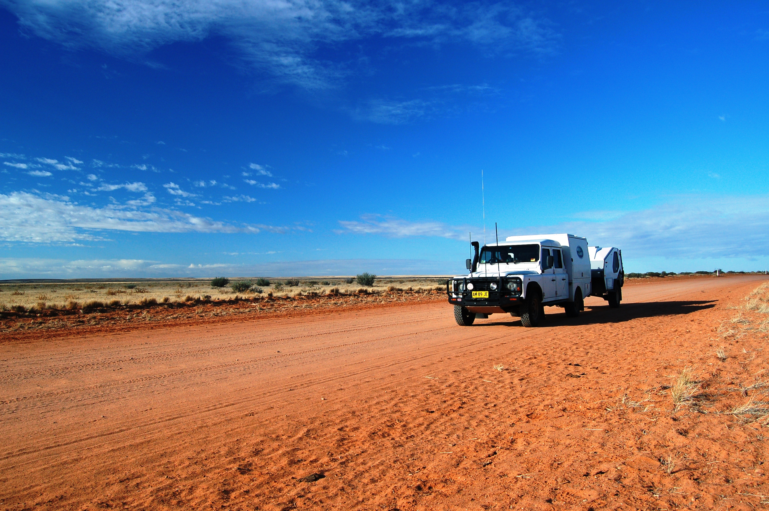 The Landy, Outback Australia (with antennas for the communication radios)
