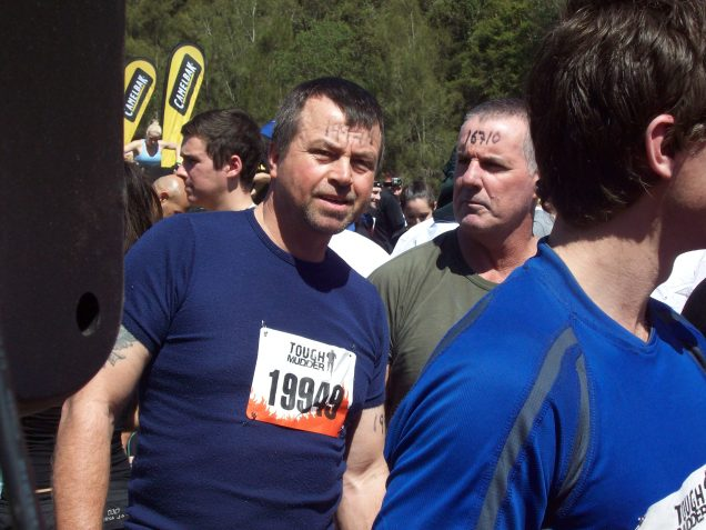 Ray and Baz line up for Tough Mudder