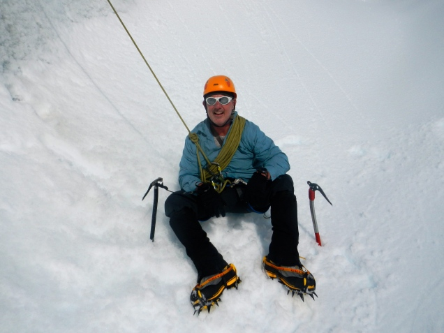 Baz - Ice CLimbing, Fox Glacier, New Zealand