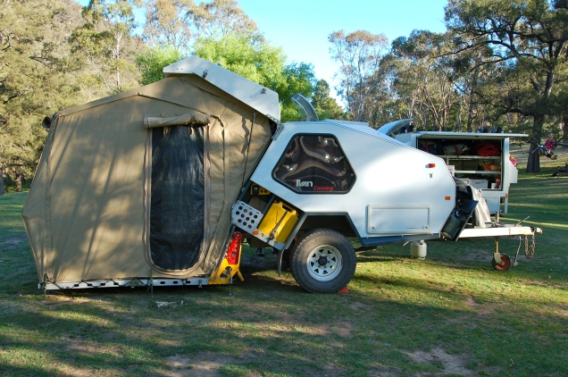 Our go anywhere T-Van camper trailer
