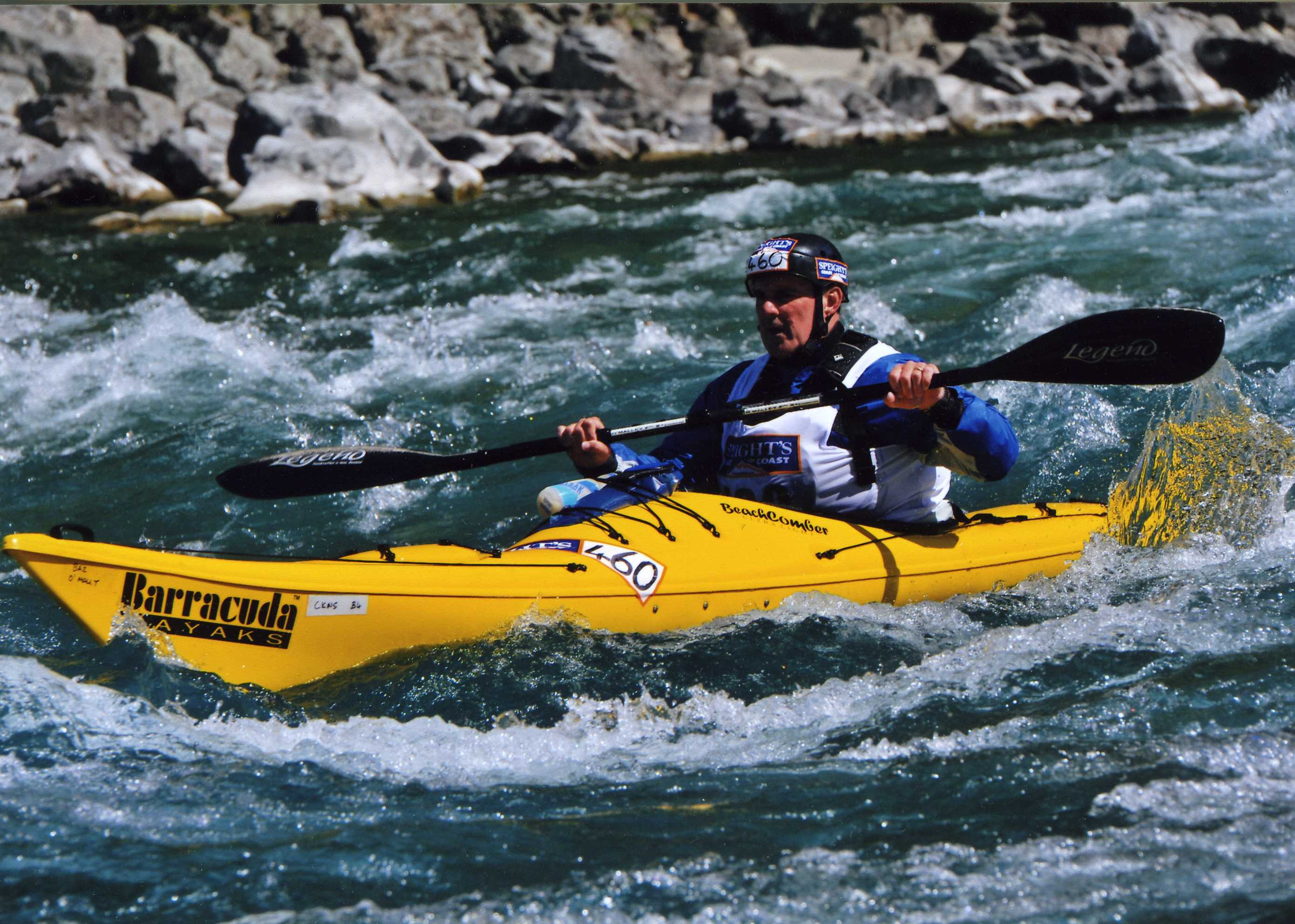 Baz - Out of control on the Waimak River, New Zealand