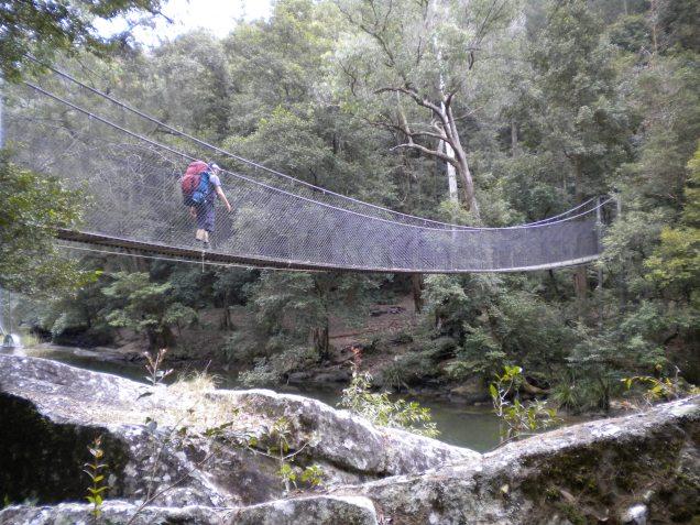 Ray crossing a foot bridge