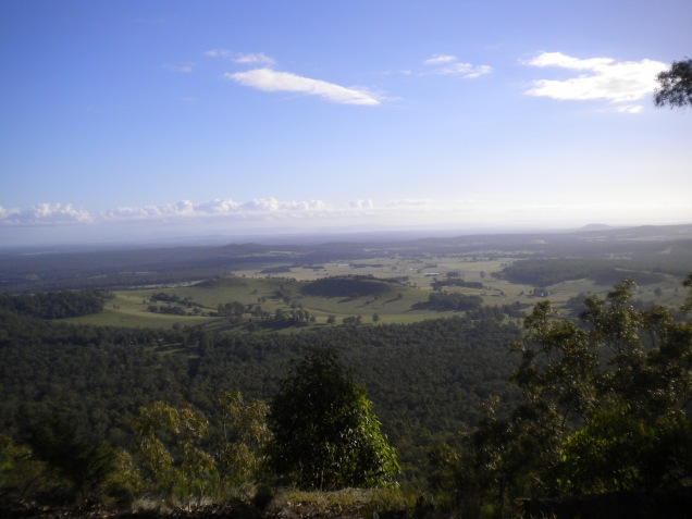 Overlooking the Hunter Valley