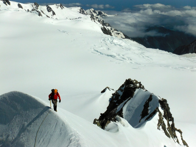 Baz on Aurora, Southern Alps, New Zealand