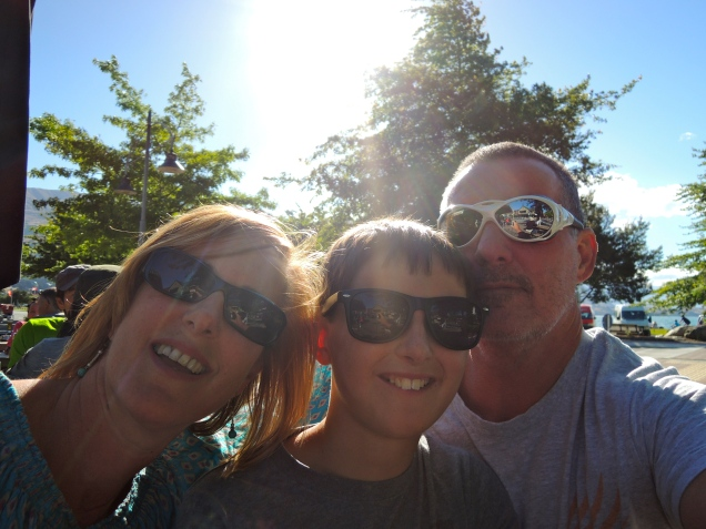 Janet, TomO and Baz - Wanaka, New Zealand