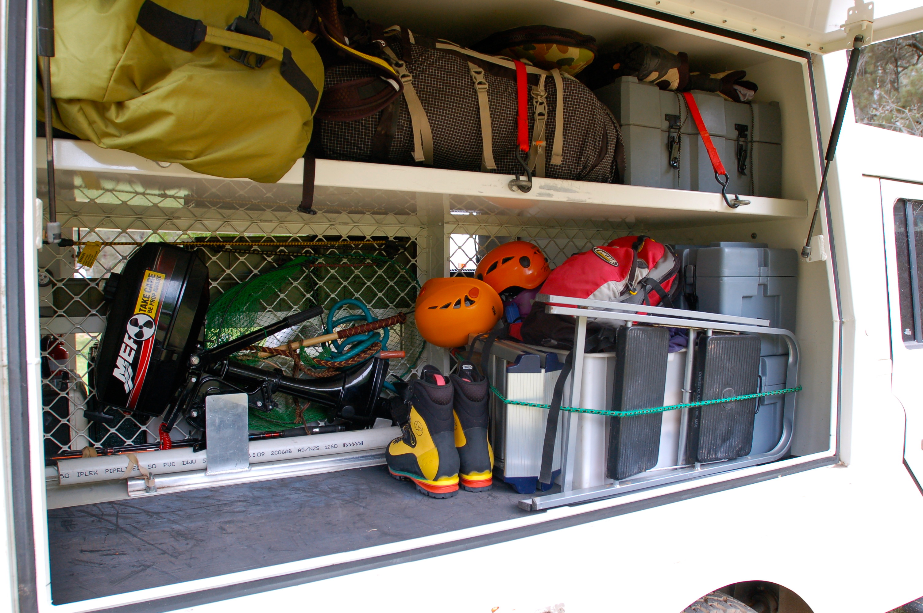 The Landy - packed full of Janet's stuff toys