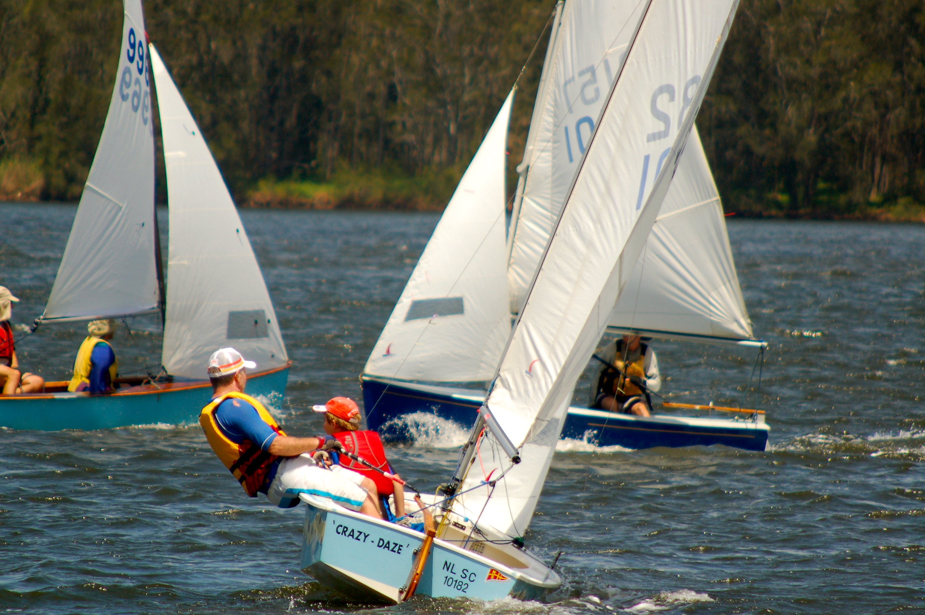 Heron Class Sailboats - Narrabeen Lake, Sydney