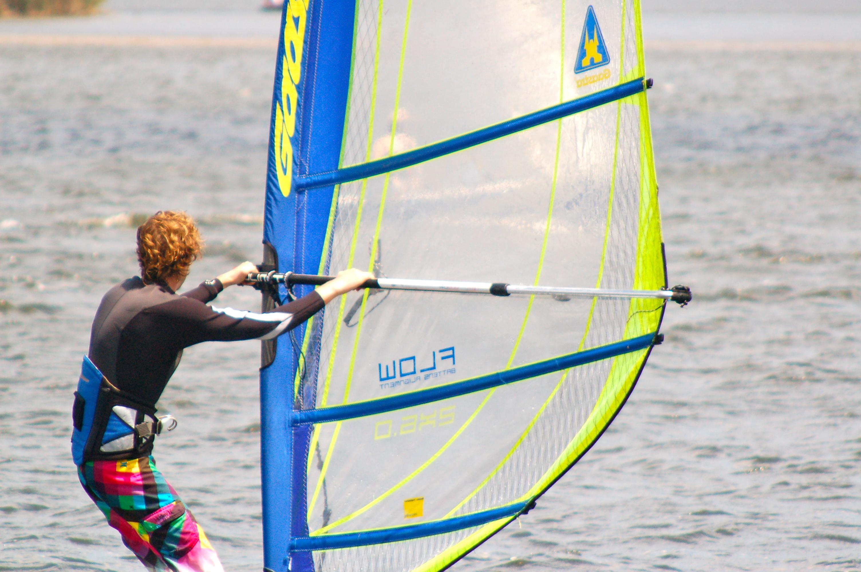 Windsurfing, Narrabeen Lake, Sydney, Australia
