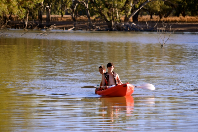 The Boys out on the Billabong