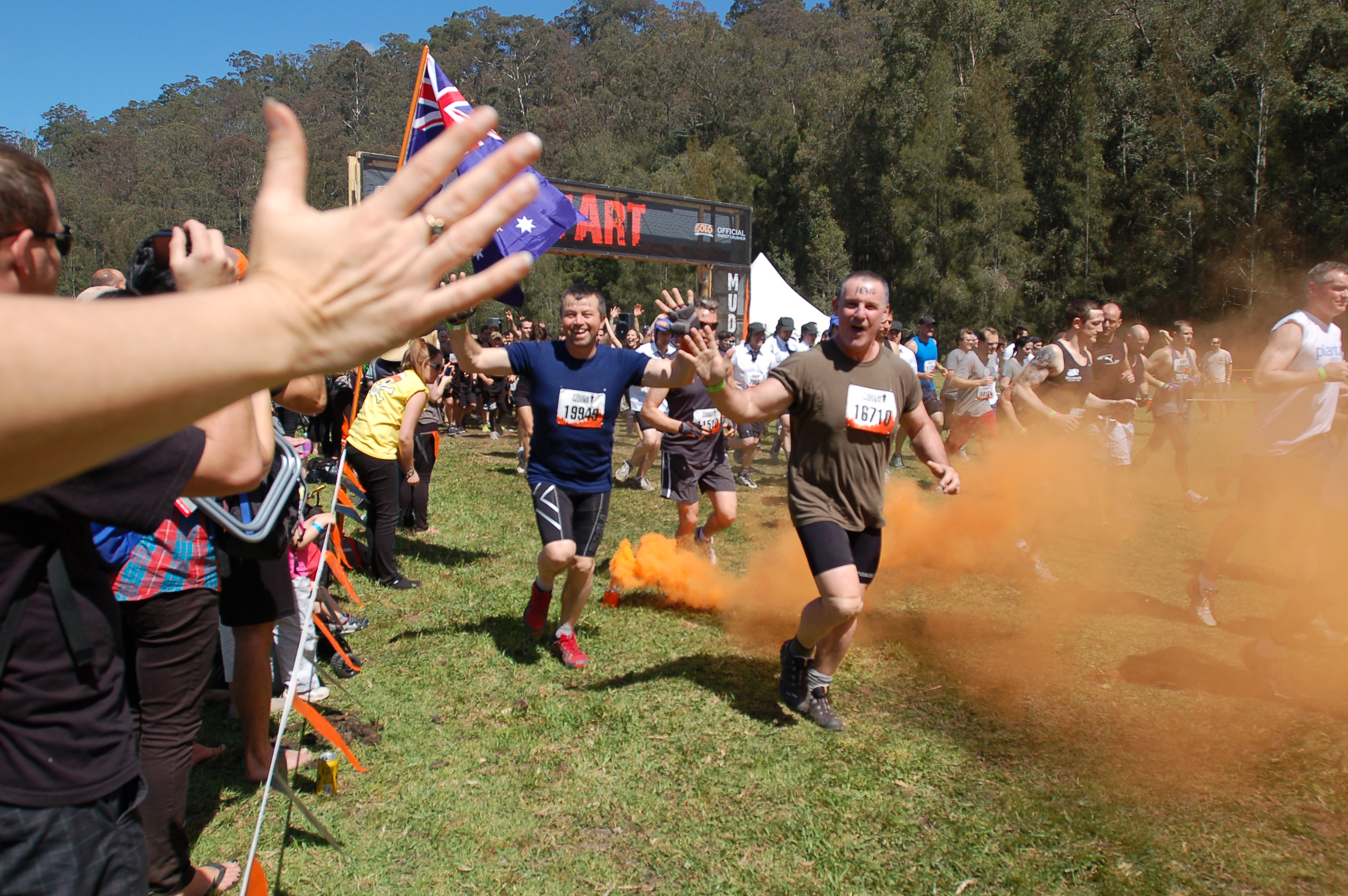 Baz and Ray, Tough Mudder, Sydney
