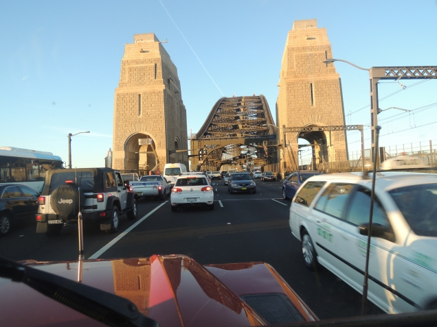 Crossing Sydney Harbour Bridge in Red Rover (Head and Shoulders above everything)