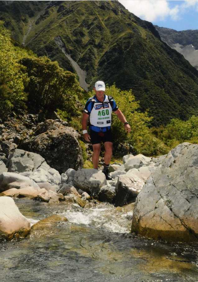 Baz crossing Goat's Pass - Coast to Coast Race New Zealand