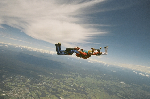 Baz skydiving at Picton, Australia