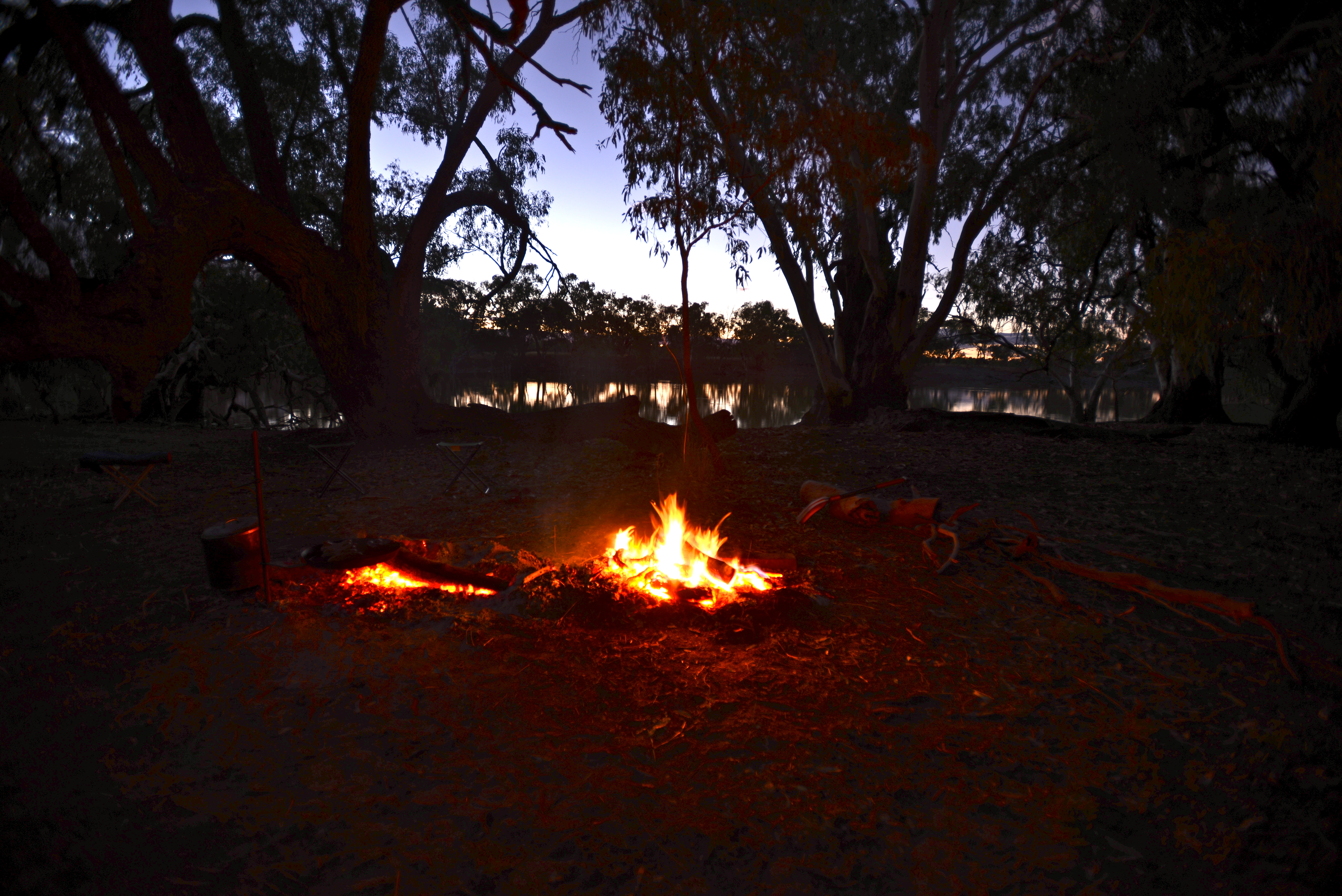 Around the fire - Trilby Station, Outback Australia