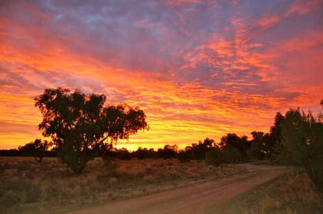 Dawn break over Australia's Outback (In a brilliance of colour)