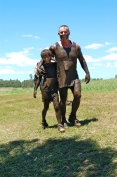 The Boys on a mud run
