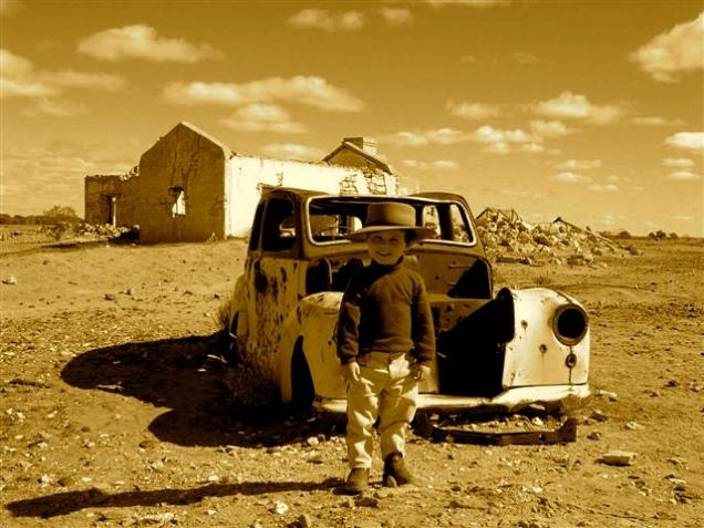 The Walking Hat, Cadelga Ruins, Outback Australia