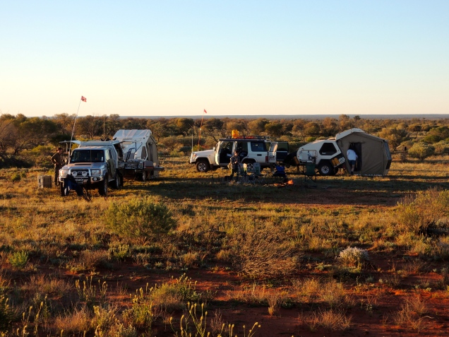 Camping in the outback