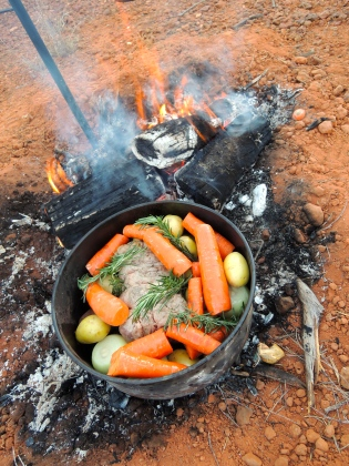 Camp oven cooking