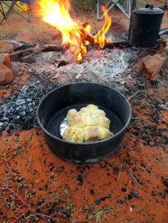 Scones on the fire