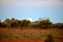 Full Moon Rising Arthur River, Outback Australia