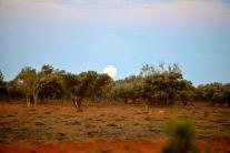 Full Moon Rising Arthur River, Outback Australia