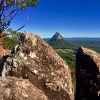 The Glasshouse Mountains...