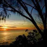 Dawn over the Coral Sea…
